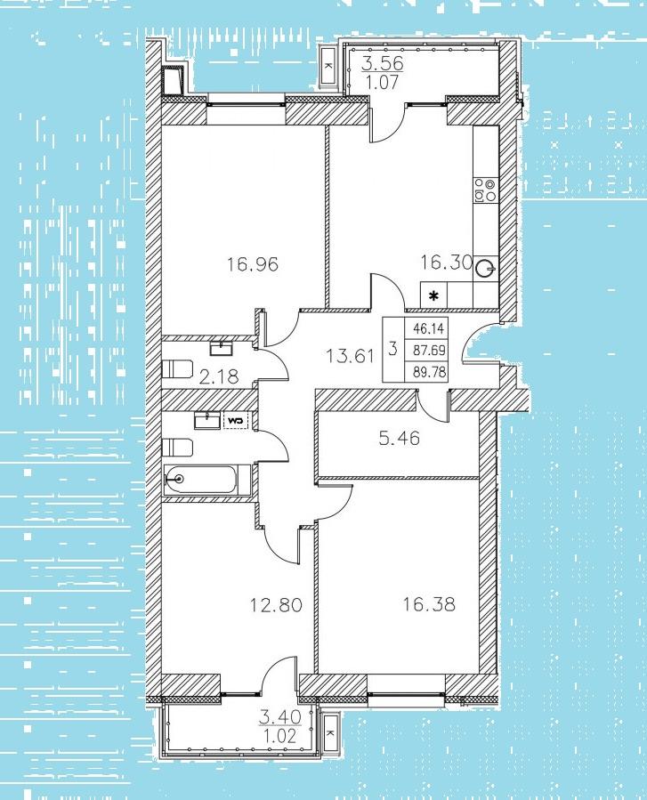 Продажа 3-к квартиры николая ершова