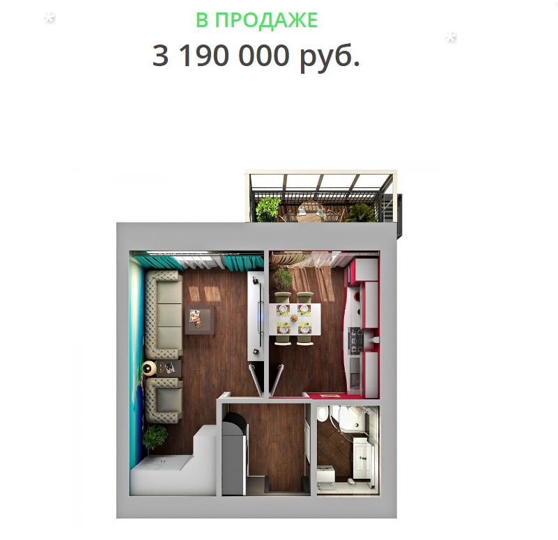 Продажа 1-к квартиры улица Николая Ершова