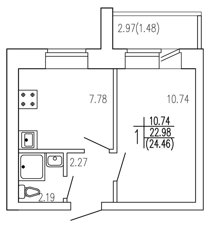 Продажа 1-к квартиры титова