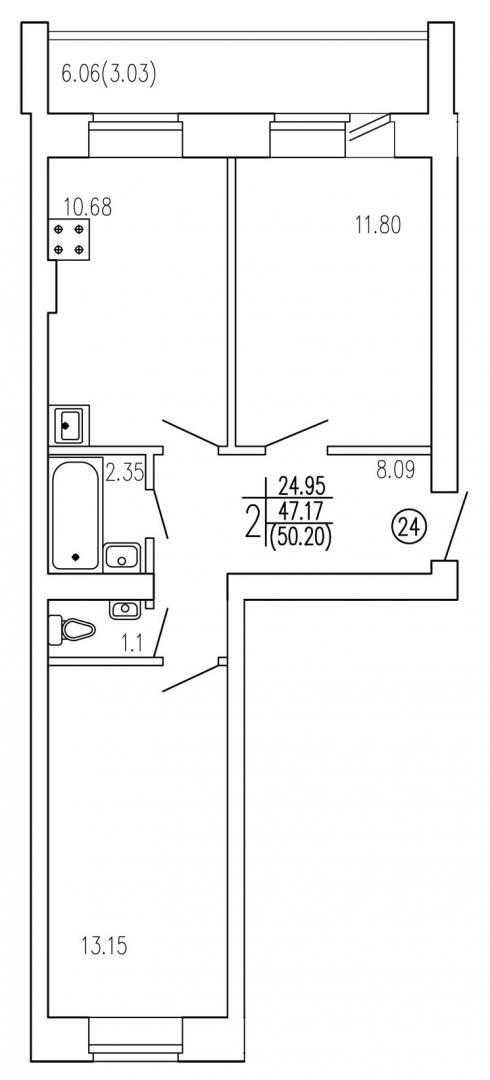 Продажа 2-к квартиры титова