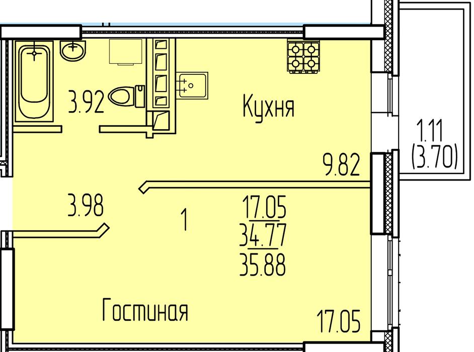 Продажа 1-к квартиры рауиса гареева, 100