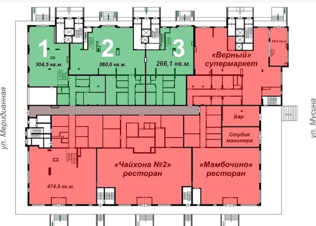 Продажа  помещения свободного назначения мусина, 1