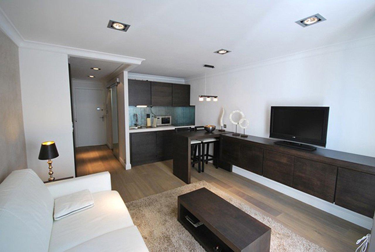 """Дизайн квартиры студии 30 кв.м прямоугольная """" креативный ди."""