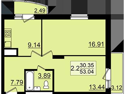 Продажа 2-к квартиры залесный сити