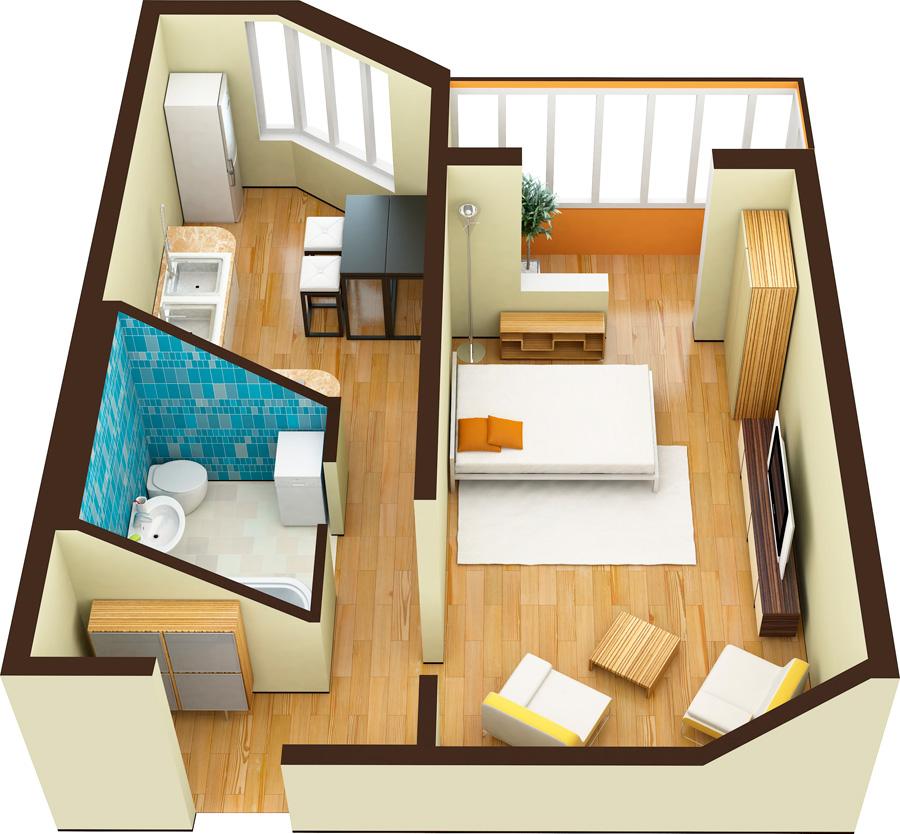 Продается однокомнатная квартира за 2 411 000 рублей. Домодедово, жилой комплекс Домодедово Парк, к209.