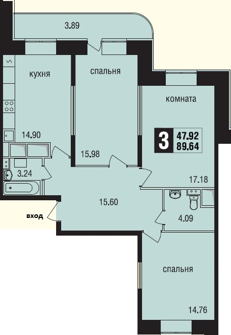 Продажа квартиры ЖК Новое Измайлово. Лот 166019