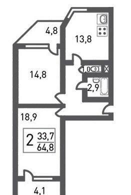 Продам 2-комн. квартиру по адресу Россия, Москва и Московская область, Москва, Рождественская улица, 33 фото 4 по выгодной цене