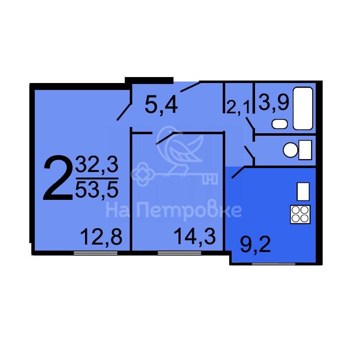 Продам 2-комн. квартиру по адресу Россия, Москва и Московская область, Москва, Осенний бульвар, 5к3 фото 0 по выгодной цене
