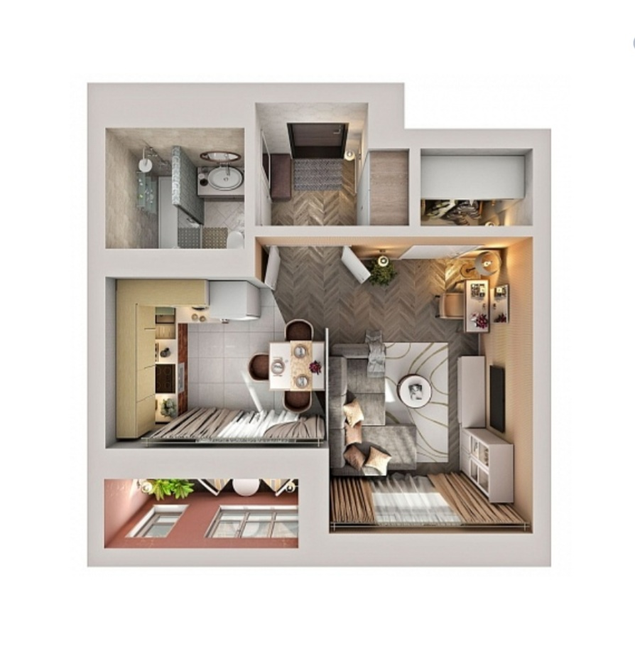 Продажа 1-к квартиры ул. Баки Урманче, д. 15-16, корп. 1