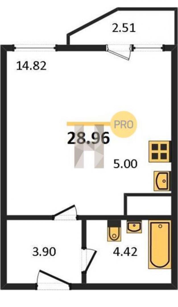 Продажа 1-к квартиры ул. Гавриила Державина, д. 3-2