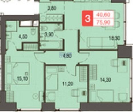 Квартира на продажу по адресу Россия, Московская область, Москва, Волоколамское шоссе, 124