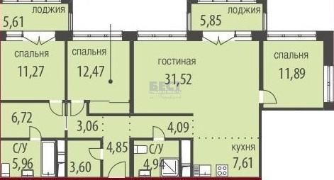 Квартира на продажу по адресу Россия, Московская область, Москва, Живописная улица, 21с4