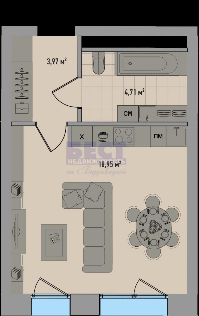 Квартира на продажу по адресу Россия, Московская область, Москва, улица Зорге, 13с10