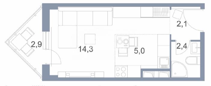 Продам 1-комн. квартиру по адресу Россия, Московская область, городской округ Солнечногорск, Голубое, Сургутский проезд, 1к1 фото 2 по выгодной цене