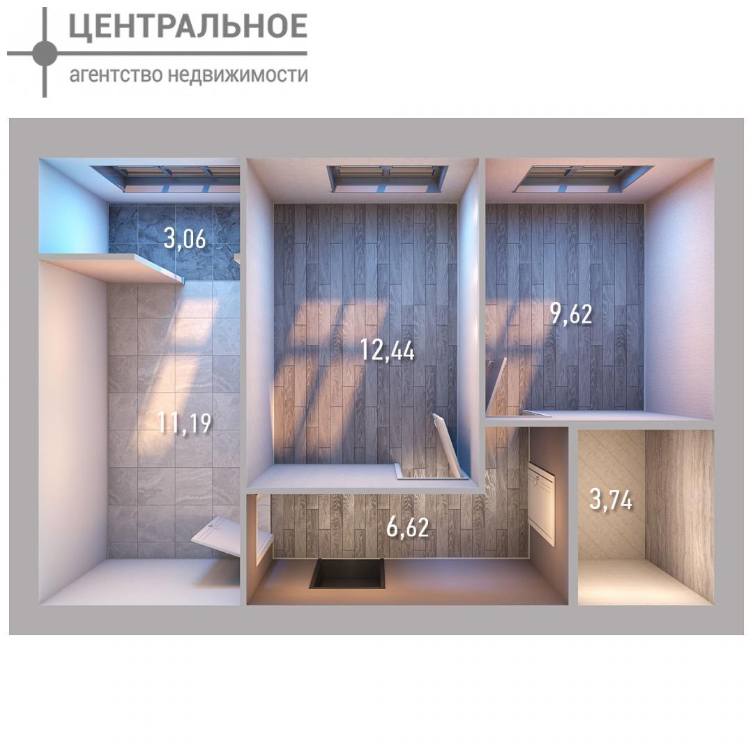 2-комнатная квартира, 46.67 кв.м., 4/10 этаж