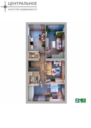 3-комнатная квартира, 76.34 кв.м., 4/10 этаж