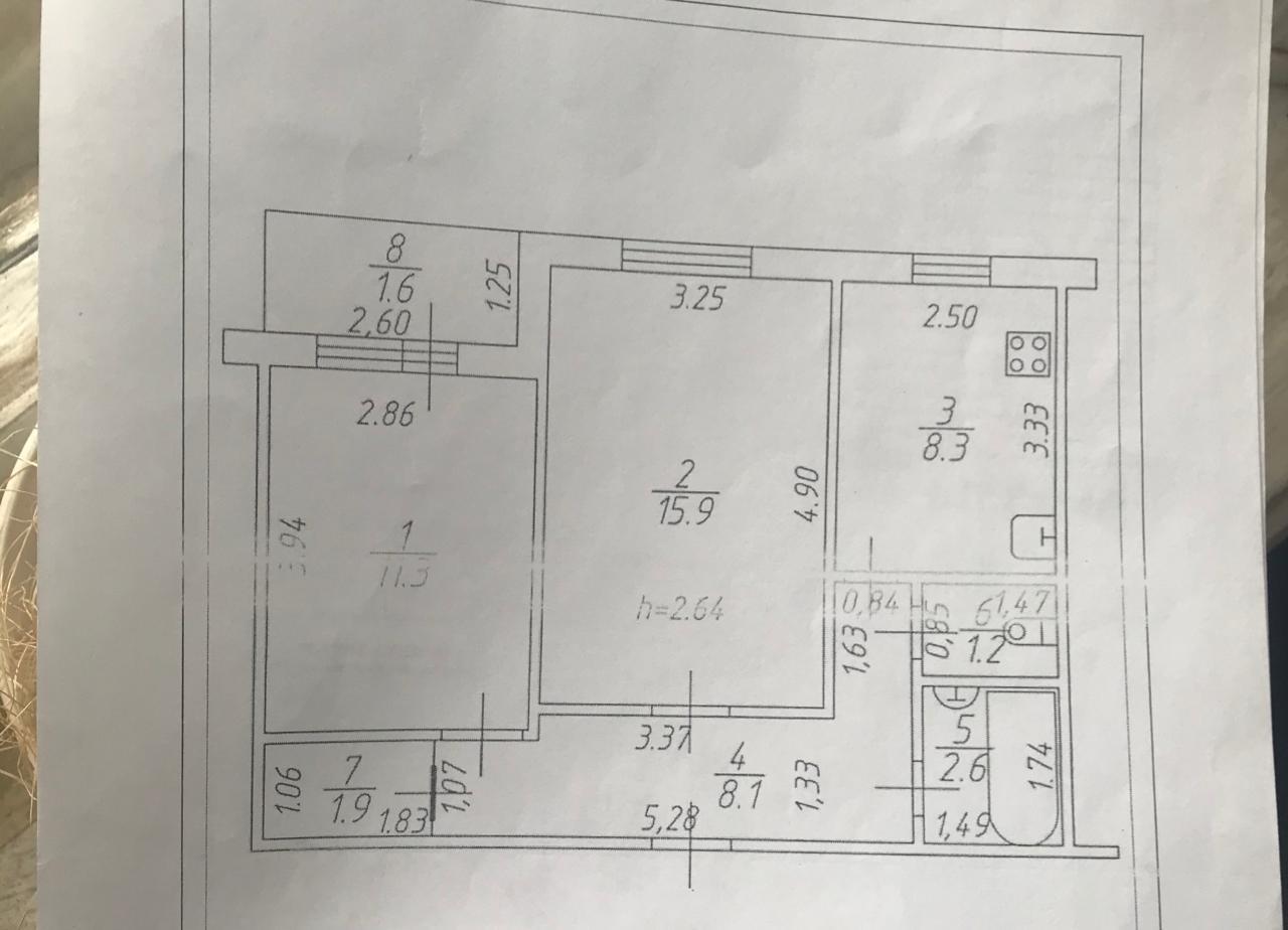 Продажа 2-к квартиры фатыха амирхана, 24