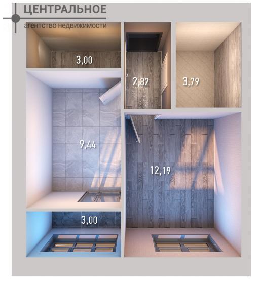 1-комнатная квартира, 34 кв.м., 3/10 этаж