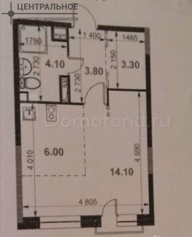 1-комнатная квартира, 30.9 кв.м., 5/8 этаж