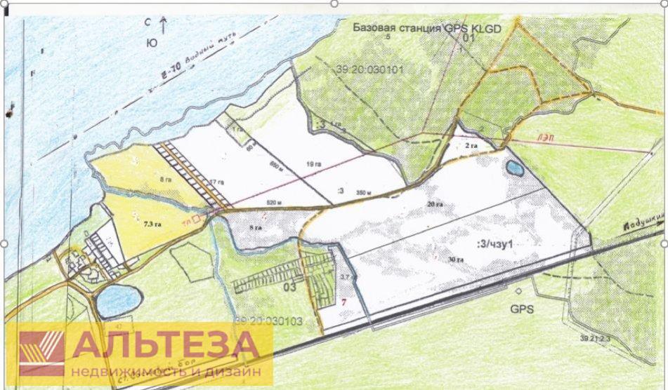 продам земельный участок 3.3 га .на территори...